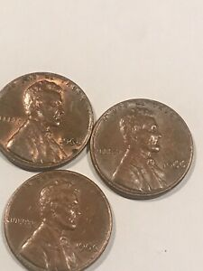 3 1966 ERROR PENNYS 150 FOR ALL 3 DD ON LIBERTY I THINK