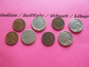 VINTAGE LOT OF 8 OLD AND  COINS THAT ARE 50 125 YEARS OLD  8 COINS  IVBW 31