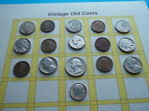 ESTATE LOT OF OLD COINS 50 TO 125 YEARS OLD WITH SOME SILVER  16 COINS   OC22