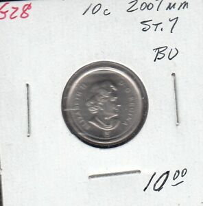 G28 CANADA 10C   10 CENTS COIN 2007MM STR.7 BRILLIANT UNCIRCULATED $10.00