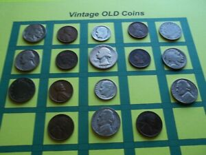 ESTATE LOT OF OLD COINS 50 TO 125 YEARS OLD WITH SOME SILVER  16 COINS   OC2