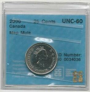 Click now to see the BUY IT NOW Price! 2000 MAP CANADA QUARTER   GRADED UNC 60   ERROR