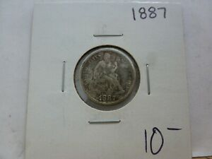 1887 SEATED LIBERTY SILVER DIME