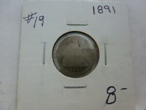 1891 SEATED LIBERTY SILVER DIME 19