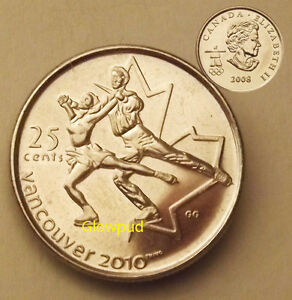 CANADA COIN .25C VANCOUVER 2010 WINTER OLYMPIC GAMES