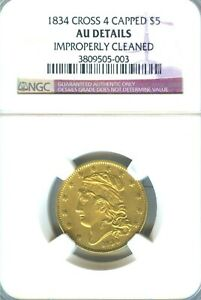 Click now to see the BUY IT NOW Price! 1834 CAPPED $5 GOLD CROSSLET 4 NGC LY