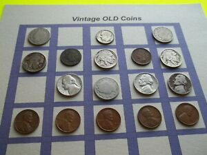 ESTATE LOT OF OLD COINS 50 TO 125 YEARS OLD WITH SOME SILVER  17 COINS   OC11