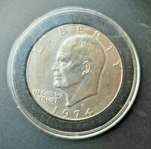 1974 D CLAD EISENHOWER DOLLAR UNCIRCULATED IN PADDED AIRTIGHT. NICE IKE $1