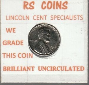 1943S  LINCOLN CENT / BRILL UNCIRCULATED  / FROM RS COINS 72111  FAST FREE SHIP