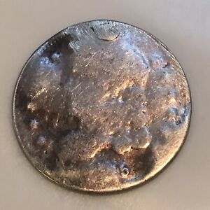 1825 SILVER CAPPED BUST HALF DIME 5C IN ROUGH CONDITION .  LOW SHIPPING