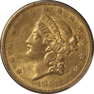 Click now to see the BUY IT NOW Price! 1851 O TYPE 1 LIBERTY GOLD $20 PCGS MS61 CAC STICKER  SUPERB EYE APPEAL