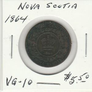 NOVA SCOTIA 1864 1 CENT