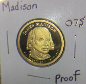 2007 S PRESIDENT JAMES MADISON GEM PROOF