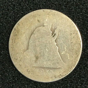1876 CC CARSON CITY SEATED LIBERTY QUARTER   POOR / FAIR LY LOW GRADE