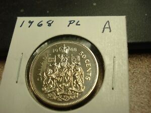 PROOF LIKE   1968   CANADA   50 CENTS   BRILLIANT UNCIRCULATED HALF DOLLAR