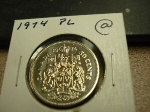 PROOF LIKE   1974   CANADA   50 CENTS   BRILLIANT UNCIRCULATED HALF DOLLAR