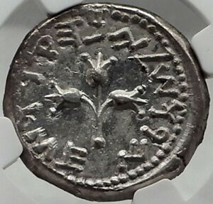 Click now to see the BUY IT NOW Price! JEWISH ROMAN WAR YEAR 3 ANCIENT 68/9AD SILVER SHEKEL JERUSALEM NGC CERTIFIED: MS