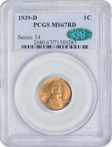 Click now to see the BUY IT NOW Price! 1939 D LINCOLN CENT MS67RD PCGS  CAC