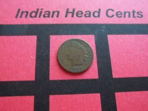 NICE 1887 INDIAN HEAD CENT   CIRCULATED   IHCS5
