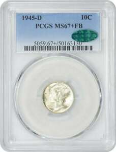 Click now to see the BUY IT NOW Price! 1945 D MERCURY DIME MS67 FB PCGS  CAC