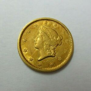 1851  TYPE 1  $1.00 GOLD PIECE XF/AU DETAILS  SCRATCHED