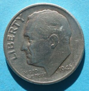 1946 P ROOSEVELT DIME VF   SILVER FROM A 1958 SET  '