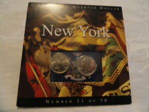2001 NEW YORK  EMPIRE STATE COMMEMORATIVE STATE QUARTERS WITH DISPLAY