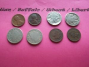 VINTAGE LOT OF 8 OLD AND  COINS THAT ARE 50 125 YEARS OLD  8 COINS  IVBW 33