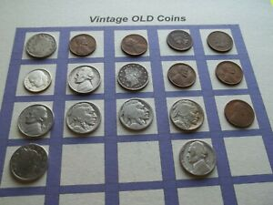 ESTATE LOT OF OLD COINS 50 TO 125 YEARS OLD WITH SOME SILVER  17 COINS   OC18