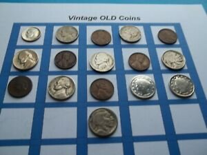 ESTATE LOT OF OLD COINS 50 TO 125 YEARS OLD WITH SOME SILVER  16 COINS   OC37