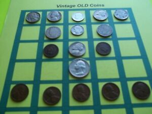 ESTATE LOT OF OLD COINS 50 TO 125 YEARS OLD WITH SOME SILVER  16 COINS   OC10