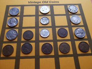 VINTAGE LOT OF OLD COINS 50 TO 125 YEARS OLD WITH SOME SILVER  16 COINS   OC90