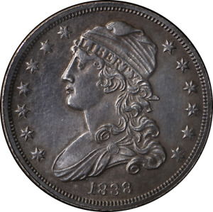 1838 BUST QUARTER CHOICE BU DETAIL  GREAT EYE APPEAL  NICE LUSTER