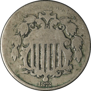 1872 SHIELD NICKEL GREAT DEALS FROM THE EXECUTIVE COIN COMPANY   BBNS1321