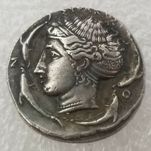 SILVER PLATED GREEK ANCIENT COIN THE GREAT GREEK COIN NO.36