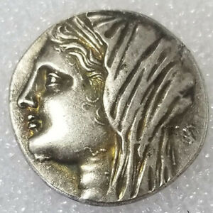 SILVER PLATED GREEK ANCIENT COIN THE GREAT GREEK COIN NO.452