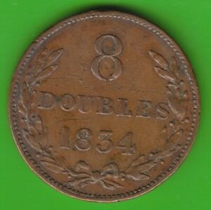 GUERNSEY 8 DOUBLES 1834 NSWLEIPZIG