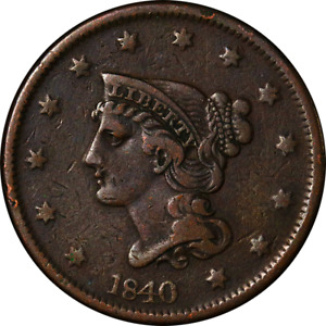 1840 LARGE CENT GREAT DEALS FROM THE EXECUTIVE COIN COMPANY