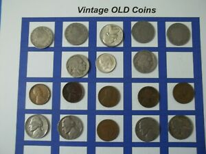 ESTATE LOT OF OLD COINS 50 TO 125 YEARS OLD WITH SOME SILVER  18 COINS   OC58