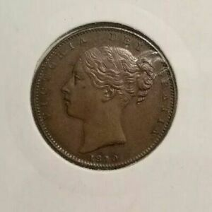 1840 1/4 PENNY FARTHING VICTORIA UNC