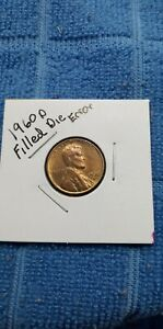 1960 D LINCOLN PENNY ERROR COIN FILLED 9