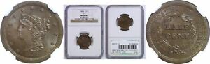 Click now to see the BUY IT NOW Price! 1854 HALF CENT NGC MS 66 BN