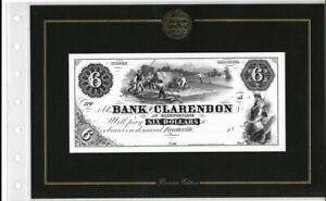 AMERICAN PAPER MONEY COLLECTION 1855 THE BANK OF CLARENDON $6 NOTE
