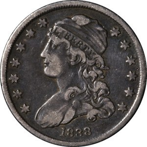 1838 BUST QUARTER NICE VF GREAT EYE APPEAL NICE STRIKE