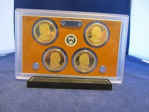 2012 S DOLLAR 4 COIN PROOF SET PRESIDENT ARTHUR CLEVELAND HARRISON DEEP CAMEO