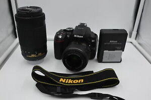 NIKON D5300 DSLR CAMERA WITH AF P DX NIKKOR 18 55MM AND 70 300MM LENSES