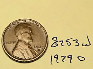 1929 D LINCOLN CENT NICE PREMIUM COLLECTION 8253W WHEAT PENNY
