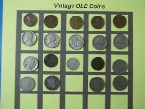 ESTATE LOT OF OLD COINS 50 TO 125 YEARS OLD WITH SOME SILVER  19 COINS   OC48