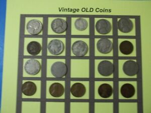 ESTATE LOT OF OLD COINS 50 TO 125 YEARS OLD WITH SOME SILVER  19 COINS   OC47