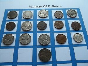 ESTATE LOT OF OLD COINS 50 TO 125 YEARS OLD WITH SOME SILVER  16 COINS   OC33
